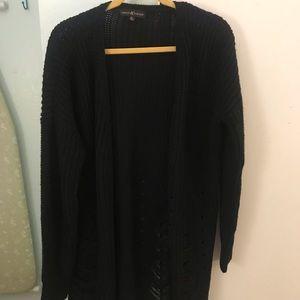 Woman's black knit cardigan